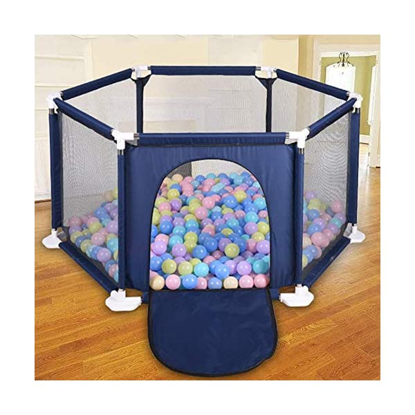 Following Playpen Children's Safety Fence Portable Foldable Playground Toys Washable, Kids Activity Center Room Fitted Floor Mats for Babies/Toddler/Newborn Crawling Following Playpen is the baby's little world, several small baby can play a role inside the game, play house, such a space, the ability to exercise various aspects of your baby, your baby is no longer playing outside all day makes the body dirty just trouble. Freestanding and portable, use inside or outdoors. Padded floor for comfort and protection. Lightweight, folding frame comes fully assembled. this is a funny portable safe playgrounds where they can enter at anytime in anywhere! Easy to install, suitable for backyard, park. The portable baby playground can let your children enjoy the game time anywhere. it features thickened pipes to help the baby to learn to walk and round tube piecing safety design to prevent hurting the baby's hands. 4