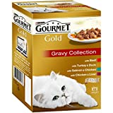 Gourmet Gold Adult Cat Chunks in Gravy Mixed Variety Wet Food Can, 12x85