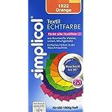 Simplicol 1522 Textil-Echtfarbe, flüssig, Orange 150 ml