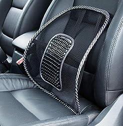 Big Ant Lendenwirbelstütze, Auto Netz Rückenstütze mit Massageperlen, ergonomisch geformt für Komfort und Schmerzlinderung im unteren Rückenbereich, Lendenwirbelstützkissen