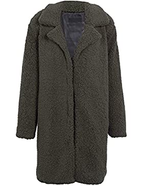 Ropa de invierno calido Simplee mujeres pelusa Baggy Long Coat Jacket Outwear