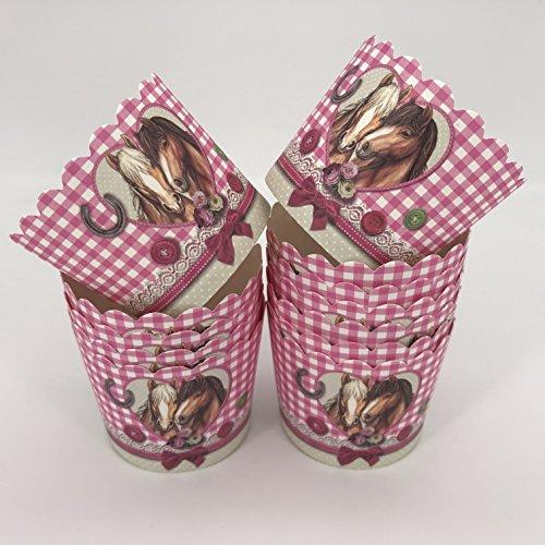 12 Muffinförmchen * PFERDEFREUNDE * für Kindergeburtstag und Mottoparty von Städter // Muffin Muffins Kinder Papier Cupcake Backformen Pferde Pony