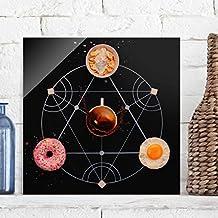 Bilderwelten Cuadro de cristal - Breakfast alchemy - Formato Cuadrado 1:1, mural acristalado,mural de pared,decoración para pared,decoración,cristal,impresión en cristal,mural de pared de cristal,fotomural de cristal, Tamaño: 50cm x 50cm