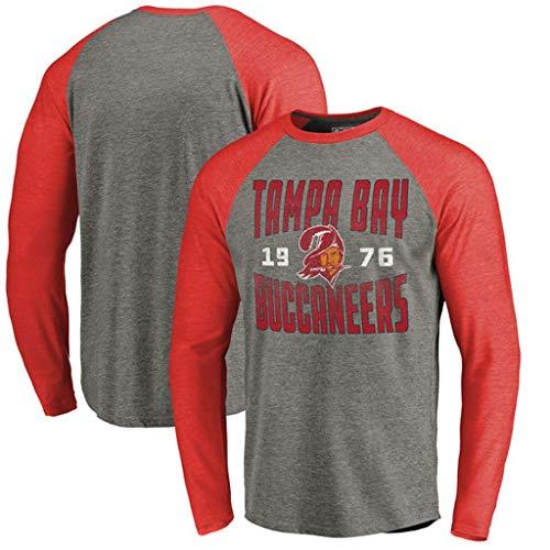 YUNMO Tampa Bay Buccaneers Rugby Match Training Freizeit T-Shirt Sweatshirt Langarm (Size : M) -