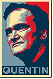 Quentin Tarantino - Art Print (Parodie Obama Hope) Poster Photo Glacé Cadeau 30x20 cm affiche