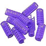 BoldnYoung 10 Plastic 25 mm Hairdressing Roller Curlers Clips for Girls & Women , Multi.