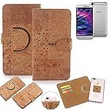 K-S-Trade Schutz Hülle für Medion Life P5006 Handyhülle Kork Handy Tasche Korkhülle Schutzhülle Handytasche Wallet Case Walletcase Flip Cover Smartphone Handyhülle