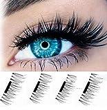 ILOVEDIY 4Stück 3D Falsche Magnetische Wimpern Wiederverwendbare Künstliche Wimpern False
