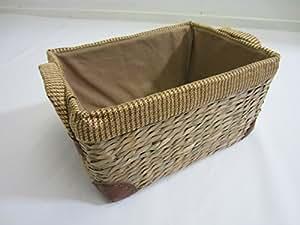 Rush Storage Baskets Lined With Handles. Bathroom Laundry Toys. - MEDIUM
