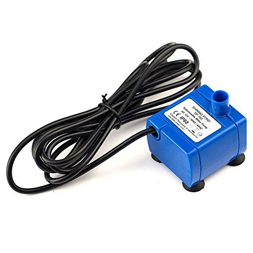Wasserpumpe,Ersatz 12V Elektrische Wasserpumpe, 5.9ft Lange Kabel Niedrigen Stromverbrauch Super Silent Motor, Kompatibel für ele ELEOPTION Blumen Trinkbrunnen -