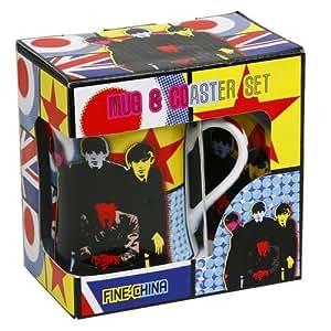 THE BEATLES Pop Art China Mug & Coaster Gift Set - Ideal Git Idea