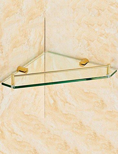 EQEQ Home Badewanne Zimmer Voll Rack Kupfer Medien. Single Layer Dreieckige Regalböden Aus Glas Sind Die Strahlen Der Badewanne Zimmer, Regale Qualität