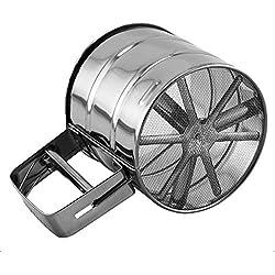 De acero inoxidable de malla de azúcar harina de café agitador tamiz de la taza herramienta
