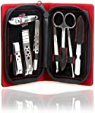 On Sale! HOTER® Classical 8 Pcs Nail Care Personal Manicure & Pedicure Set, Synthetic Leather Travel & Grooming Kit