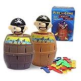 mxdmai Pirate Spiel Aktionsspiel Kinder und Familie Spielzeug Lustige Piraten Eimer Glück Stab Geschicklichkeit Spielzeug Party-Spiel zufällige Farbe (XS)