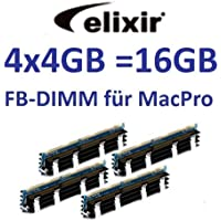 Elixir Original 4x 4GB = 16GB Kit 240pin FB-DIMM DDR2–800PC2–6400128Mx4X 36double side (M2D4G72TU4ND9B–AC) per Apple MacPro sistemi 1,12,13,1(anni 2006A 2008) modelli