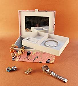 Paperholic Design Studio Perched Birds Print Fabric Jewelry Box Amazon In Office Products