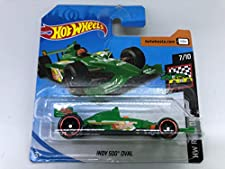 2019 Hot Wheels Indy 500 Oval Green 7/10 HW Race Day 77/250 (Short Card)