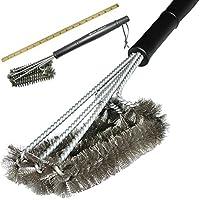 EQLEF® 360 ° GRILL pennello pulito Barbecue, acciaio inox Grill - 3 in acciaio inox spazzole in 1 Fornisce pulizia senza sforzo