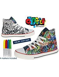 Bota Lona Infantil - Graffiti By Beppi - Zapatillas para colorear Niñas