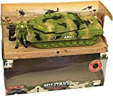 TerritoryWinner Army Tank Beast Patrol Cannon Military Soldier Man Gunner Kids Toy War Games