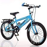 22 Zoll Kinder Fahrrad 7-15 Jahre Alt Kinder Bikes High Carbon Stahl Jungen Mädchen Mountainbike Grundschule Fahrrad Einzigen Geschwindigkeit (Farbe : Blau)