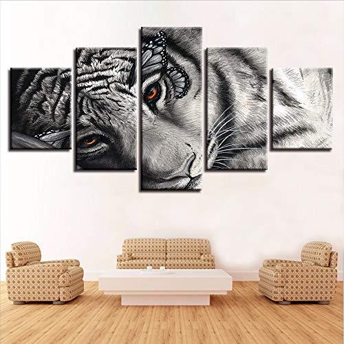 QThxqa Lona HD impresiones cartel Wall arte 5 unidades