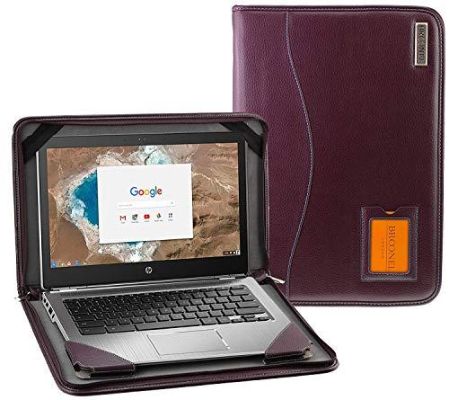 "Broonel - Contour Series - Lila Leder Laptop Fall/Hülse Kompatibel mit dem HP EliteBook 1050 G1 15.6"" 4K UHD Laptop"