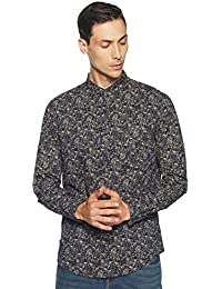 Diverse Men's Printed Slim Fit Casual Shirt