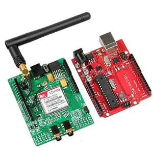 Iduino Geeetech UNO R3 ATMEGA328P-PU bord SIMCOM SIM900 quadri-bande GSM GPRS développement Shield pour Arduino/Iduino