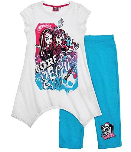 Monster High T-Shirt mit Leggins (140, türkis)