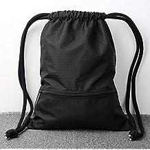 Mochila de Gimnasio,GZQES,Bolsos de Gimnasio para Hombres Mujeres,Bolsa de Fitness,Mochila para Escalada,Bolsa de Deportes,45 x 35 cm (Negro)