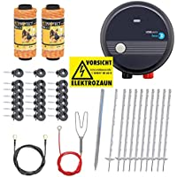 PET Kit Valla eléctrica económica para jardín, Set Completo 230 V, con