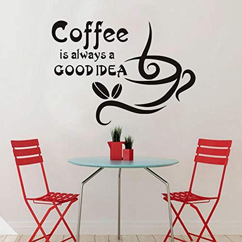 Kaffee ist immer eine gute idee wandaufkleber kaffeetasse dekoration abnehmbare küche wandaufkleber 59x43 cm (Ideen Niedlich, Einfache Dekoration Halloween)