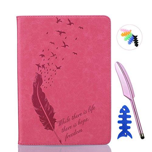 ANNN® iPad Air/iPad 5 Solide Drucken(Dayan Feather) PU Leder Flip Wallet Schutzhülle mit Magnetverschluss - Bookstyle Hülle mit Standfunktion und Kartenfach als stabiler Schutz--B04