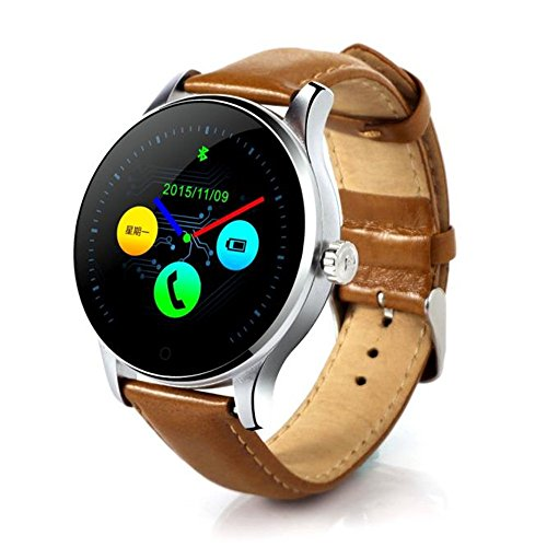 4 Light Post Oben (COLORFUL K88H Bluetooth Smart Watch Herzfrequenz Track Armbanduhr , Bluetooth 4.0 Smart Watch Handy-Uhr für iPhone iOS 7.0 oder Android 4.3 oben Smartphone, 1.22 Zoll IPS (Kaffee))