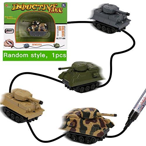 Produktbild Zauber Induktiv Panzer Spielzeug [Folgen Schwarze Linien] Magic Inductive Car Kleine Fahrzeuge für Kinder