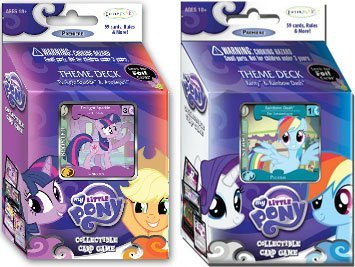 My Little Pony Enterplay Collectible Card Game Set of Both Theme Decks [Twili... (Little Pony-enterplay My)