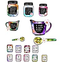 Easma Measuring Cups Conversion Baking Vinyl Wall Art Decal Sticker Kitchen Conversion Charts Stickers-Colorful