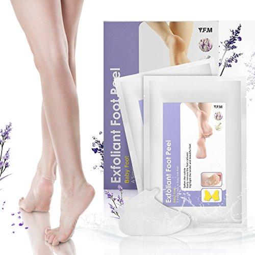 Fuß Maske, Y.F.M. 2 Paar Fuß Peeling Maske Peeling Socken Schwielen und abgestorbene Haut Entferner Baby Füße( wirkten schnell, brauchen nur 4 - 7 Tage. )