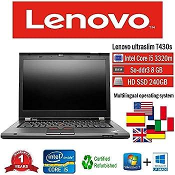 Lenovo portátil T430s i5 3320 M 2.60 GHz 8 GB 240 GB SSD W10 Pro (