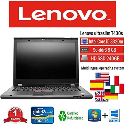 NOTEBOOK RICONDIZIONATO T430S I5 3320M 2.60 GHZ 8GB 240GB SSD W10 PRO (Ricondizionato))