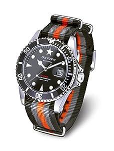 Oxygen EX-D-AMS-40-BLGROR - Reloj analógico de cuarzo unisex, correa de nailon multicolor (agujas luminiscentes) de Oxygen