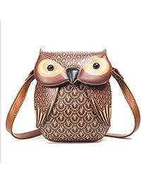 604dcdc8a18cc Faliya Kleine Eule Schultertasche Handtasche Damen Messenger Bag Cartoon  Crossbody Handy…