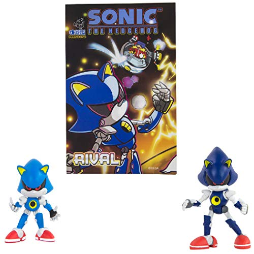 Sonic Collector Series Figure 2-Pack w/ Comic - Classic & Modern Metal Sonic (Sonic Sonic Toys Von Metal)