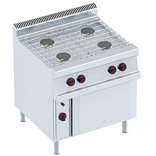 Macfrin 35012 Cocina a Gas de 4 Fuegos y Horno 23 Kw
