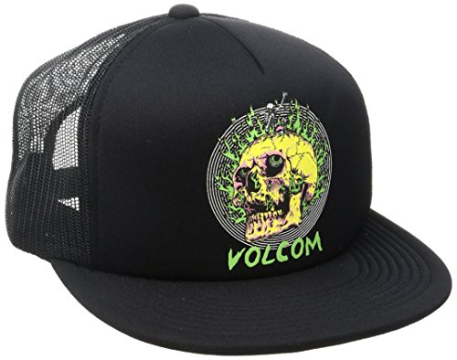 Volcom Bad Brad Cheese Snapback Cap Black Black