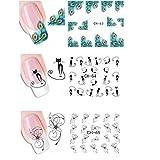 drawihi 4fogli assortiti Adesivo Decoracion per unghie Decal DIY unghie strumento di decorazione arte adesivi unghie adesivi