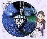 SUNKEE Re:Zero kara Hajimeru Isekai Seikatsu Cosplay Regalo 925 Collana D'Argento Anime Freddo (Argento, Catena D'Argento)