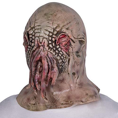 Littlefairy Maske,Halloween Horror Mystery Maske Krake Tier Perücke Monster Alien Haube knifflige Maske